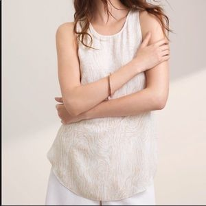 Wilfred printed silk blouse cream Medium